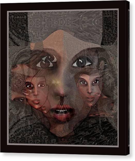 2327- Portrait Fractal 2017 Canvas Print