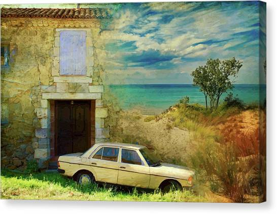 24 Hr Parking By The Beach Canvas Print