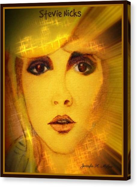 Mac Digital Music Canvas Print - 24 Karat Stevie by Jennifer Hess McGee