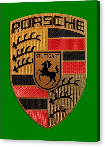 Logo Canvas Print - Porsche Label by Porsche Label