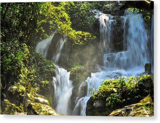 Waterfall Scenery Canvas Print