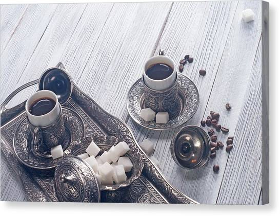 Tea Pot Canvas Print - Coffee by Super Lovely