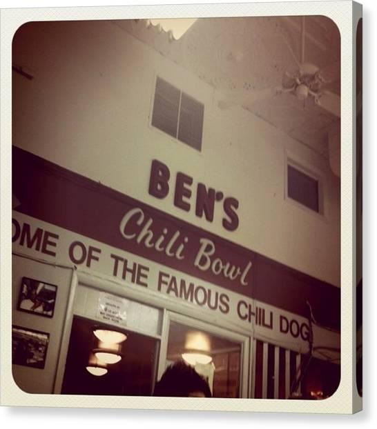 Washington D.c Canvas Print - Ben's Chili Bowl by Laurie White