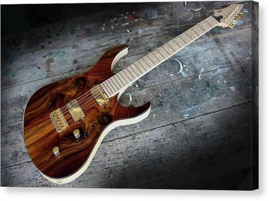 String Instrument Canvas Print - Guitar by Mariel Mcmeeking