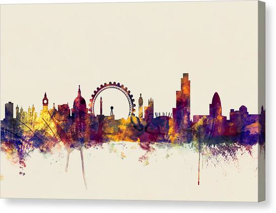 London Skyline Canvas Print - London England Skyline by Michael Tompsett