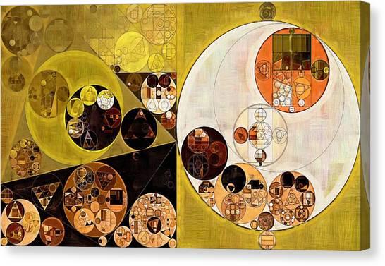 Brown University Canvas Print - Abstract Painting - Zinnwaldite Brown by Vitaliy Gladkiy