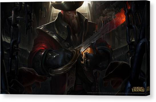 Saddles Canvas Print - League Of Legends by Maye Loeser