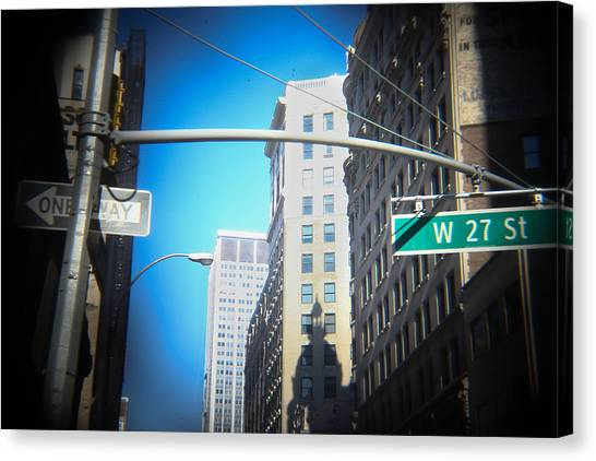 New York University Canvas Print - 27th Street by Jimmy Taaffe