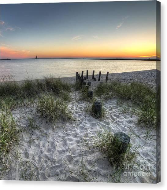 Ludington Beach Canvas Print by Twenty Two North Photography