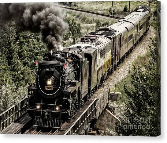 Canvas Print featuring the photograph 2816 Empress At Seebee Crossing by Brad Allen Fine Art