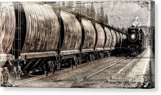 Canvas Print featuring the photograph 2816 Empress Passing Grain by Brad Allen Fine Art