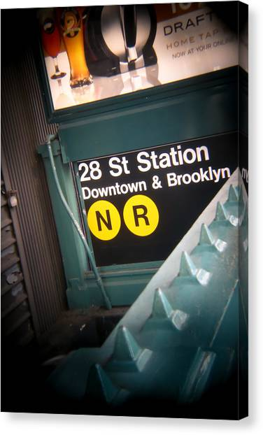 New York University Canvas Print - 28th Station Brooklyn And Downtown by Jimmy Taaffe