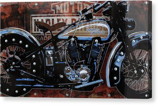 Choppers Canvas Print - 29 Harley by Gary Kroman