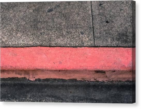 Red Curb Canvas Print
