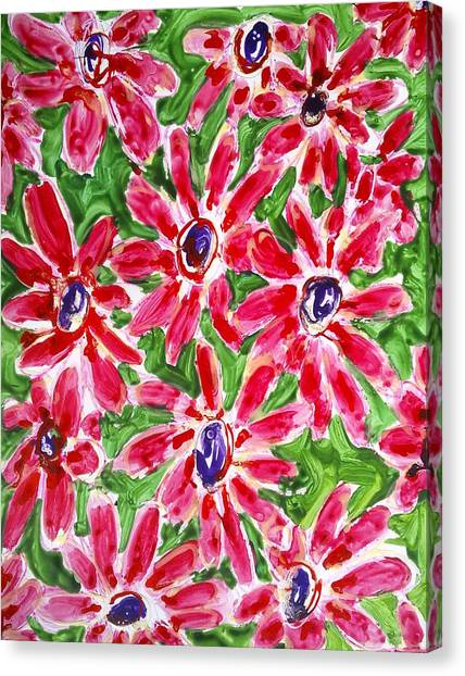 Divine Flowers Canvas Print by Baljit Chadha