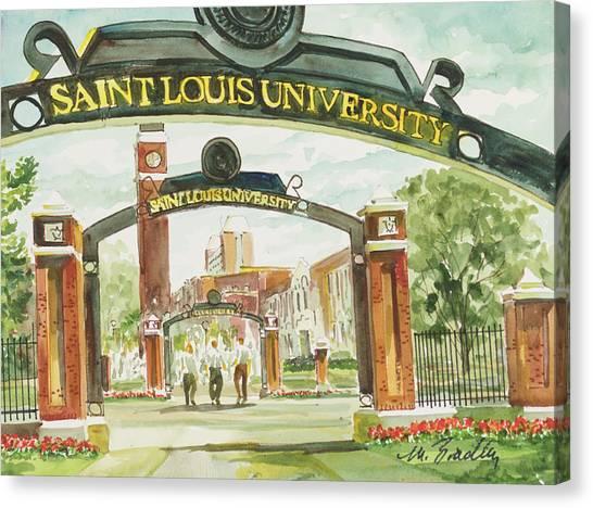 Saint Louis University Canvas Print - 292 Saint Louis University Gates by Marilynne Bradley