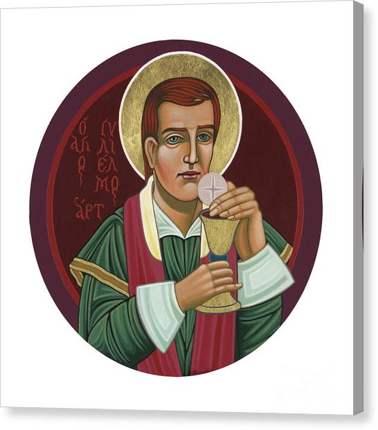 Canvas Print featuring the painting 297 Holy Martyr Blessed William Hart -1583 by William Hart McNichols
