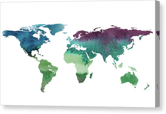 World map paint splashes canvas prints page 3 of 3 fine art america world map paint splashes canvas print 2d hand drawn illustration of world map by gumiabroncs Choice Image