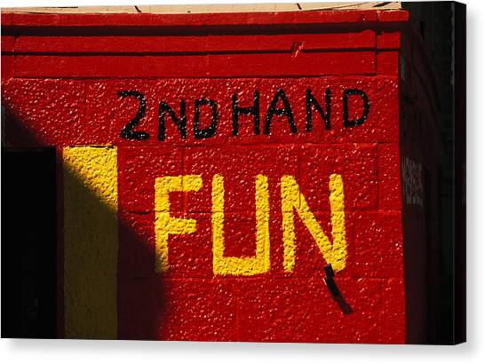 2nd Hand Fun Canvas Print by Carl Purcell
