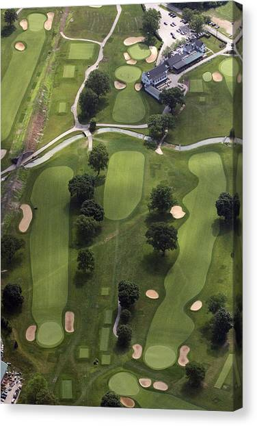 Cricket Club Canvas Print - 2nd Hole Philadelphia Cricket Clubs Wissahickon Golf Course by Duncan Pearson