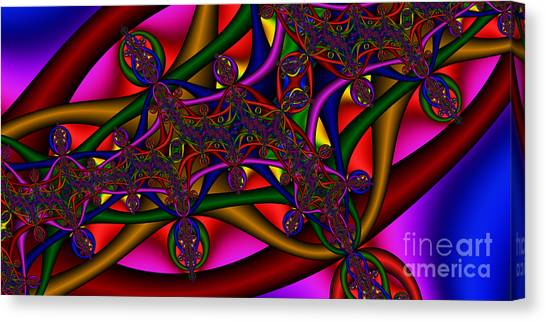 2x1 Abstract 411 Canvas Print by Rolf Bertram