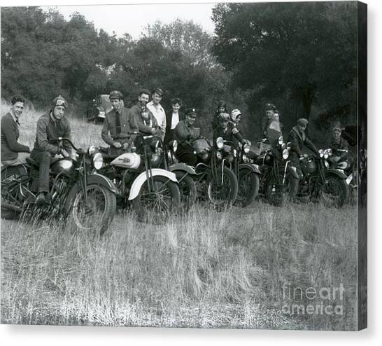 1941 Motorcycle Vintage Series Canvas Print