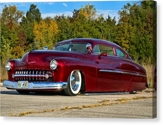 Sleds Canvas Print - 1951 Mercury Low Rider by Tim McCullough