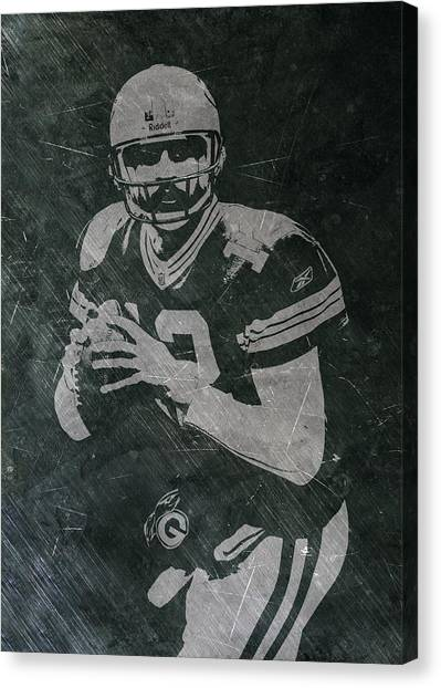 Green Bay Packers Canvas Print - Aaron Rodgers Packers by Joe Hamilton