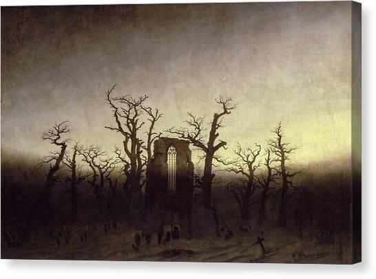 Caspar Canvas Print - Abbey Among Oak Trees by Caspar David Friedrich