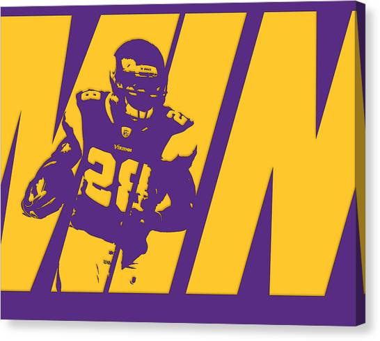Minnesota Vikings Canvas Print - Adrian Peterson Minnesota Vikings by Joe Hamilton