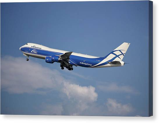Cargo Canvas Print - Air Bridge Cargo Airlines Boeing 747-83q by Smart Aviation