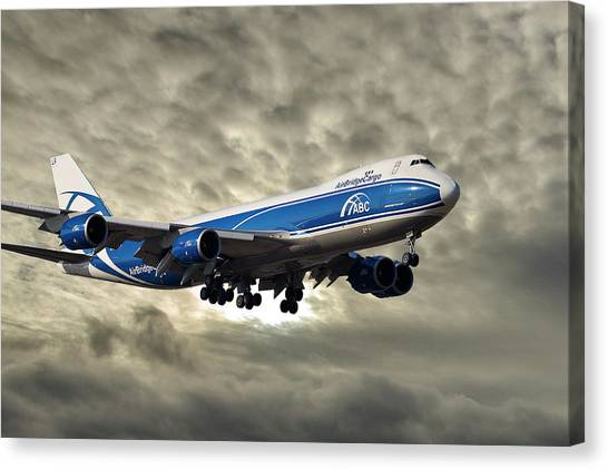 Cargo Canvas Print - Air Bridge Cargo Airlines Boeing 747-8hv by Smart Aviation