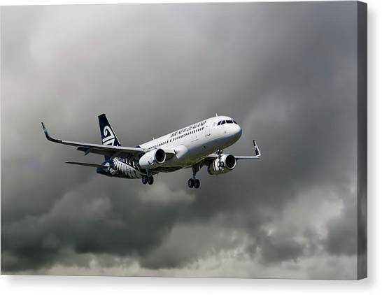 Airlines Canvas Print - Air New Zealand Airbus A320 by Smart Aviation