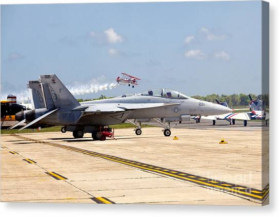 Breaking Sound Barrier Canvas Print - Airshow by Anthony Totah