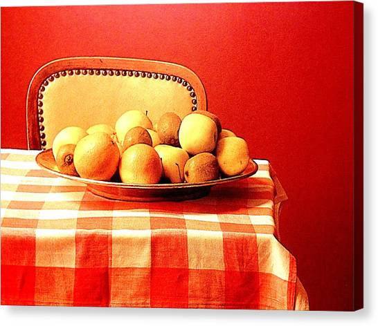 Step Stool Canvas Print - Apples by Frederick Lyle Morris