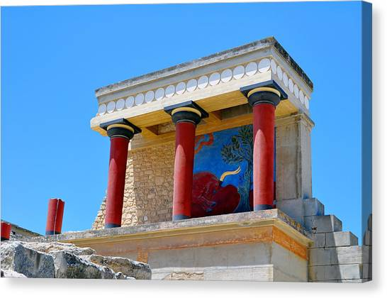 Minoan Canvas Print - Archaeological Site Of Knossos. Minoan Palace. Crete. by Fernando Barozza