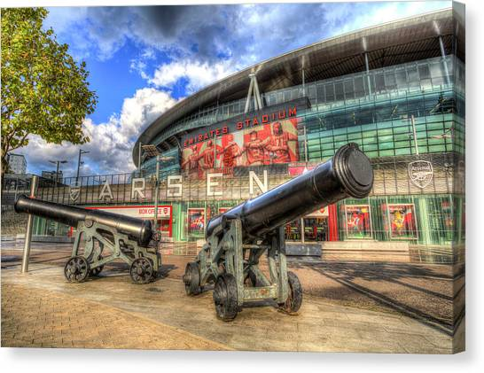 Arsenal Fc Canvas Print - Arsenal Fc Emirates Stadium London by David Pyatt