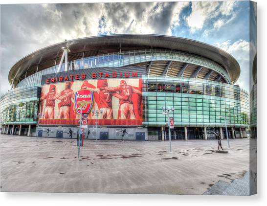 Arsenal Fc Canvas Print - Arsenal Football Club Emirates Stadium London by David Pyatt