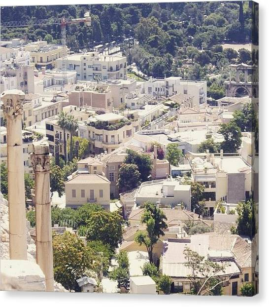 The Acropolis Canvas Print - #athens #greece #europe by Christos Mouzeviris