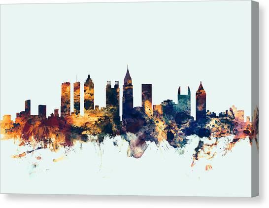 Georgia Canvas Print - Atlanta Georgia Skyline by Michael Tompsett