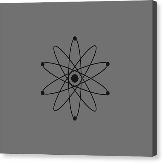 Biology Canvas Print - Atom by Marco Livolsi