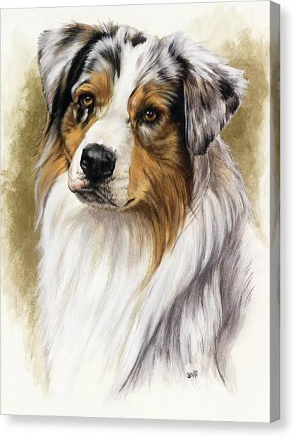 Canvas Print - Australian Shepherd by Barbara Keith