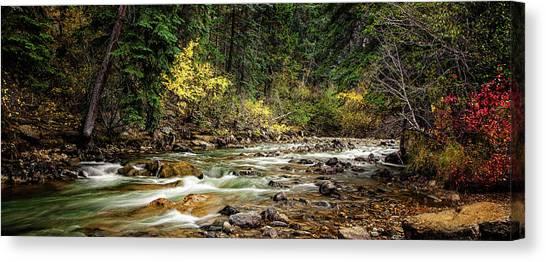 Colorado Rapids Canvas Print - Autumn Stream by Andrew Soundarajan