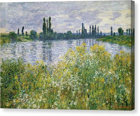 Banks Of The Seine, Vetheuil Canvas Print