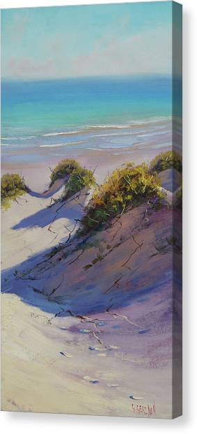 Impressionist Beach Canvas Print - Beach Dunes by Graham Gercken