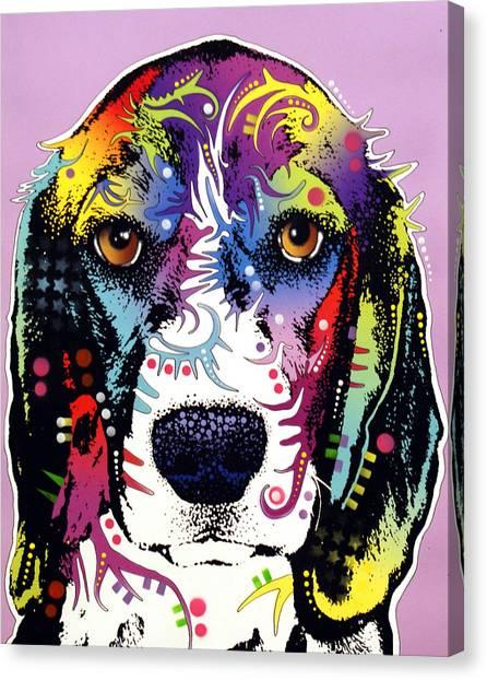 Beagles Canvas Print - Beagle by Dean Russo Art
