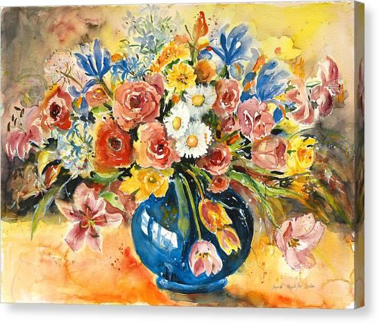 Blue Vase Canvas Print by Alexandra Maria Ethlyn Cheshire