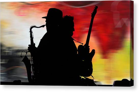 Iphone Case Canvas Print - Bruce Springsteen Clarence Clemons by Marvin Blaine