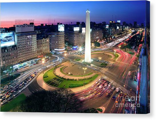 Buenos Aires Obelisk Canvas Print