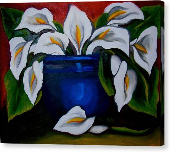Calla Lilies Canvas Print by Misty VanPool